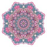 Mandala in roze en blauwe kleuren Royalty-vrije Stock Afbeelding