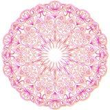 Mandala, roze en gele ornament royalty-vrije illustratie