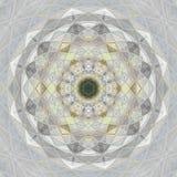 mandala Rund linjär prydnad av grå pastellfärgad färg Royaltyfri Fotografi
