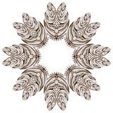mandala Rund prydnadmodell Arkivbild
