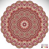 mandala Rund prydnadmodell Royaltyfri Fotografi