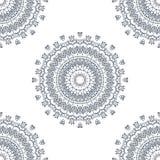 mandala Rund prydnadmodell Arkivbilder
