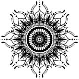 mandala Rund prydnadmodell dekorativ elementtappning bakgrund tecknad hand Islam arabiska, indiska ottomanmotiv stock illustrationer