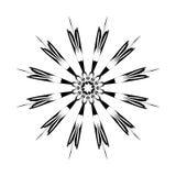 mandala Rund prydnadmodell ethnic Arkivbilder