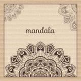 mandala Rund prydnadmodell härlig prydnad Royaltyfri Illustrationer