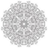 mandala rund vektor för prydnad vektor illustrationer