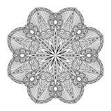 mandala rund vektor för prydnad royaltyfri illustrationer