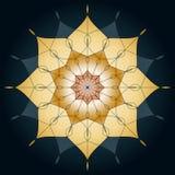 Mandala rundaprydnad, beståndsdel för design på en blå bakgrund Arkivfoto