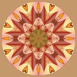 Mandala rundaprydnadmodell, beståndsdel för design Arkivbilder