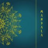mandala Rundes dekoratives Muster der ethnischen Spitzes Stockfotografie