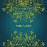 mandala Rundes dekoratives Muster der ethnischen Spitzes Lizenzfreie Stockbilder