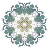 mandala Rundes dekoratives Muster der ethnischen Spitzes Lizenzfreie Stockfotografie