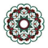 mandala Rundes dekoratives Muster der ethnischen Spitzes Stockfotos