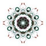 mandala Rundes dekoratives Muster der ethnischen Spitzes Stockbilder