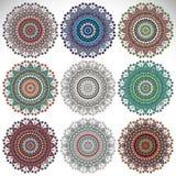 mandala Rundes Verzierungs-Muster Lizenzfreies Stockbild
