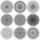 mandala Rundes Verzierungs-Muster Lizenzfreies Stockfoto