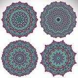 mandala Rundes Verzierungs-Muster Stockfotos
