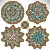 mandala Rundes Verzierungs-Muster Stockbilder