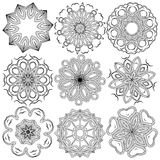 mandala Rundes Verzierungs-Muster Stockbild
