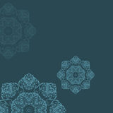 Mandala-rundes Verzierungs-Muster Stockbilder