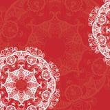 Mandala-rundes Verzierungs-Muster Lizenzfreies Stockbild