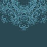 Mandala-rundes Verzierungs-Muster Stockbild