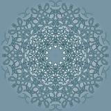 mandala Rundes Verzierungs-Muster lizenzfreie abbildung