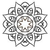 mandala Rundes Verzierungs-Muster Dekorative Elemente der Weinlese lizenzfreie abbildung