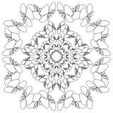 mandala Rundes Verzierungs-Muster ethnisch Stockfotografie