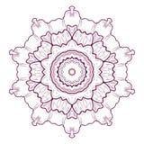 mandala Rundes Verzierungs-Muster tätowierung Vektor Stockbilder