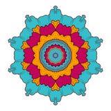 mandala Rundes Verzierungs-Muster Vektor Stockbild
