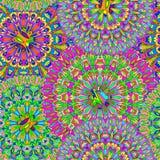 Mandala sans couture coloré de modèle photos libres de droits