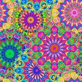 Mandala sans couture coloré de modèle Photographie stock libre de droits