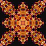 Mandala sans couture fleuri Élément de conception de vintage dedans Image libre de droits
