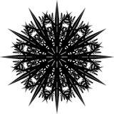 Mandala, Schneeflocke II lizenzfreie stockfotografie