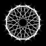 Mandala, Schneeflocke, Verzierung lizenzfreie stockbilder