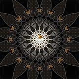 Mandala scura di phlaeas del Lycaena illustrazione vettoriale