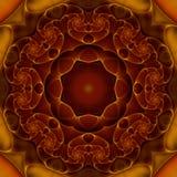 Mandala se développant en spirales de coeurs Image stock