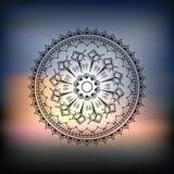 Mandala. Sea background. Stock Photos