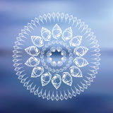 Mandala. Sea background. Stock Image
