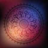 Mandala. Sea background. Royalty Free Stock Images