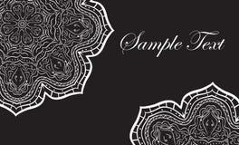 Mandala seamless black business card, elegant business card, vector illustration Stock Photography