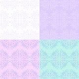 MAndala Seamless monochrome Patterns set Stock Photo