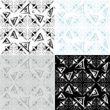 MAndala Seamless monochrome Patterns set Stock Image