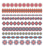 Mandala seamless pattern borders,strips background. Royalty Free Stock Photos