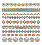 Mandala seamless pattern borders,strips background. Royalty Free Stock Images