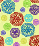 Mandala seamless pattern stock photos