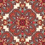 Mandala seamless pattern Geometric flower circular ornament Stock Images