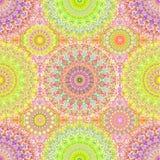 Mandala Seamless Pattern hippie colorée Photo stock