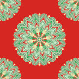 Mandala seamless pattern with many details. Vector illustration Royalty Free Stock Image
